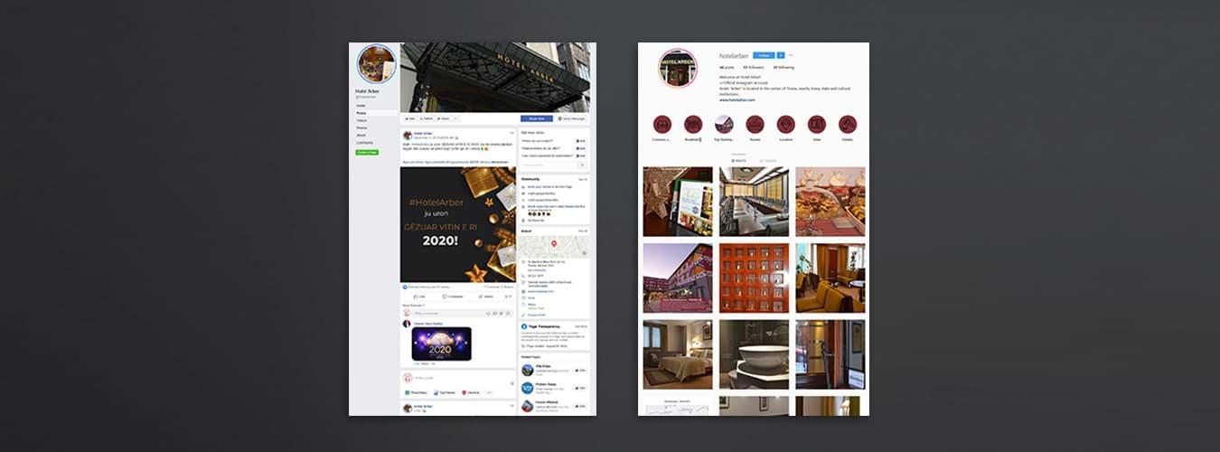 hotel arber social media