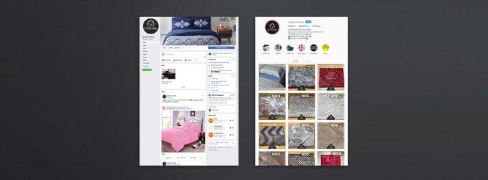 cotton home social media